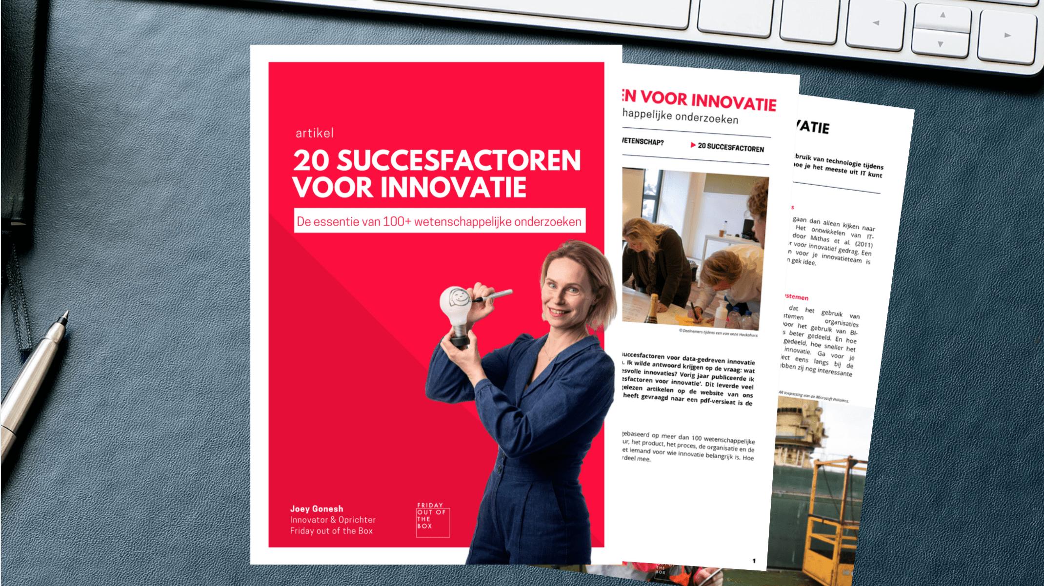 20 succesfactoren voor innovatie | artikel Friday out of the Box