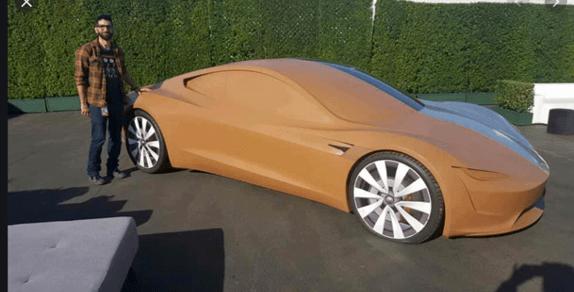 Kleimodel Tesla Roadster