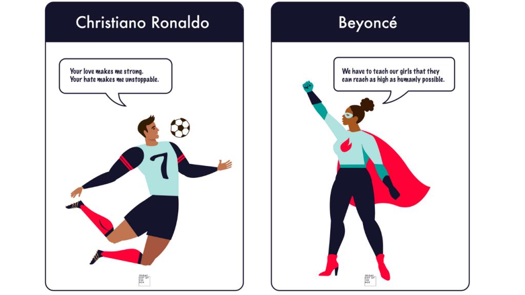 Alter Ego's | Creatieve technieken | Ronalde en Beyonce
